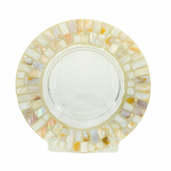 Yankee Candle Mosaic Mother of Pearl Holder Plate